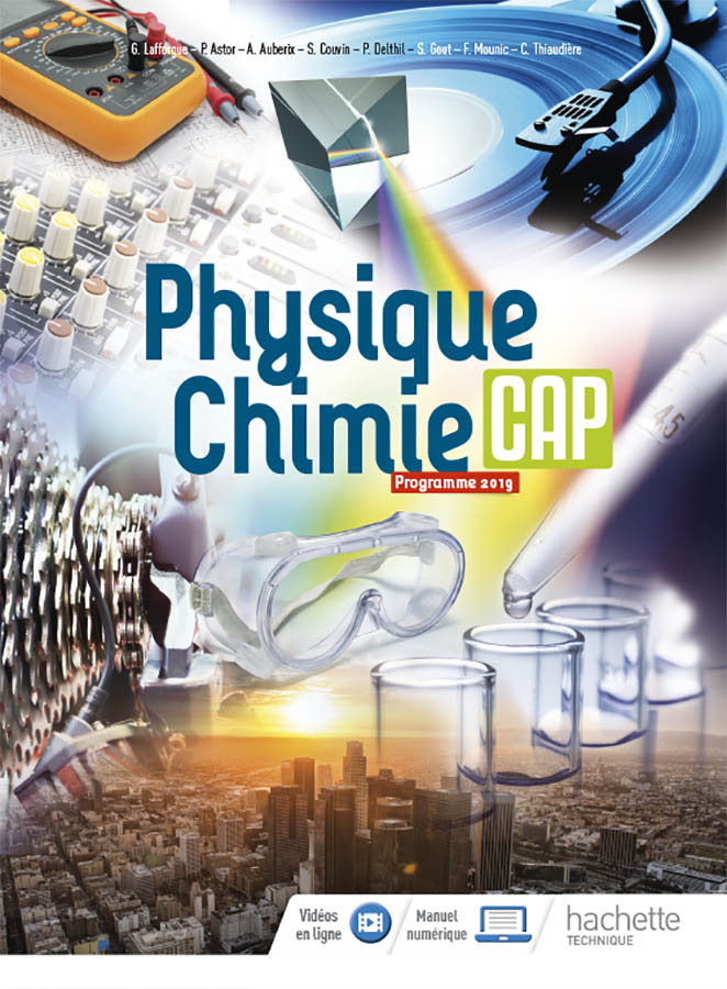 Physique chimie CAP édition Hachette